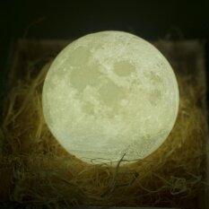 โปรโมชั่น แสงกลางคืน Pldm 3D พิมพ์โคมไฟดวงจันทร์การชาร์จไฟทางจันทรคติของยูเอสบีไนท์ไลท์แตะควบคุมความสว่างทูโทนเส้นผ่านศูนย์กลาง 3 9 นิ้ว ใน จีน