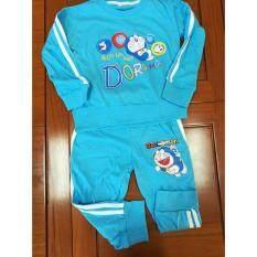 ขาย Nightberry เสื้อยืดเด็กแขนยาวพร้อมกางเกงขายาวสีฟ้า ไซส์ M Nightberry1018 ใหม่