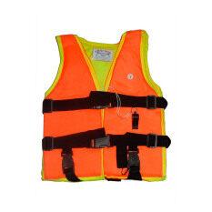 ซื้อ Nine เสื้อชูชีพเด็กมีนกหวีด สีส้ม Nine ออนไลน์