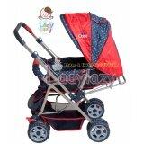 ราคา Ladylazy รถเข็นเด็ก No 01 ปรับได้ 3 ระดับ เข็นหน้า หลังได้ สีแดง แถมฟรี กระเป๋าอเนกประสงค์ ใหม่ล่าสุด
