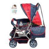 ราคา Ladylazy รถเข็นเด็ก No 01 ปรับได้ 3 ระดับ นั่ง เอน นอน สีแดง แถมฟรี กระเป๋าอเนกประสงค์ ใหม่ ถูก