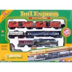 Noktoys.kt ของเล่น ลดกระหน่ำวันนี้ ขายถูกที่สุด!! ชุดรถไฟ โบราณ รถไฟกล่องใหญ่ เปลี่ยนขบวนได้ รางขนาดใหญ่ ยาว 4 เมตร มีเสียง มีไฟ.