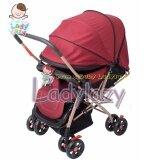 ราคา Ladylazyรถเข็นเด็กคันใหญ่ No Lady01 เข็นหน้า หลังได้ ปรับได้ 3 ระดับ แถมฟรีมุ้งกันยุง สีแดง ใหม่