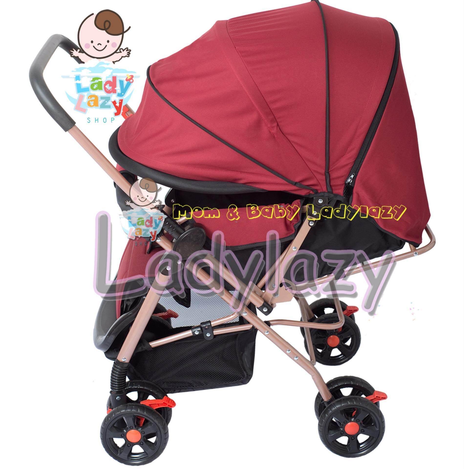 ที่ไหนขายถูก ๆ ladylazyรถเข็นเด็กคันใหญ่ No.lady01 เข็นหน้า-หลังได้ ปรับได้ 3 ระดับ แถมฟรีมุ้งกันยุง สีแดง ยี่ห้อไหนดี pantip