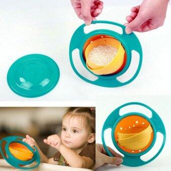 Non Spill Feeding Gyro Bowl Dishes 360 Rotate Cup Baby Avoid Food Spill