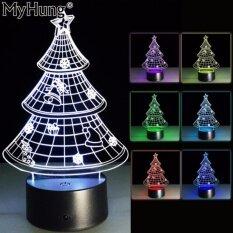 ความแปลกใหม่ Christmas Tree 3D Led โคมไฟตั้งโต๊ะสำหรับ Christmasgift ตกแต่ง Nightlight 7 สีห้องเด็กตกแต่ง Touchswitch รีโมทคอนโทรล เป็นต้นฉบับ