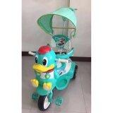 ส่วนลด Np Toys รถจักรยานสามล้อเด็กหน้าเป็ด มีด้ามเข็น ร่มบังแดด มีเสียงดนตรี สีเขียว Np Toys กรุงเทพมหานคร