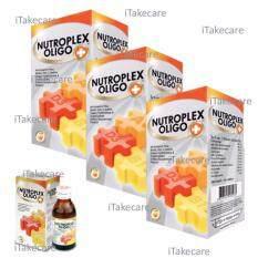 Nutroplex Oligo Plus วิตามินเสริมสำหรับลูกกินน้อย ขับถ่ายยาก 60 Ml 3 ขวด วิตามินสำหรับเด็ก ไม่ทานผัก ช่วยการขับถ่าย บำรุงร่างกาย เสริมสร้างการเจริญเติบโต ใหม่ล่าสุด