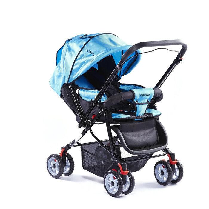 ลดต้อนรับปีใหม่ ladylazy รถเข็นเด็กแบบนอน ladylazyรถเข็นเด็กคันใหญ่ No.lady01 เข็นหน้า-หลัง ปรับได้ 3 ระดับ แถมฟรีมุ้งกันยุง สีฟ้า ลดล้างสต๊อก