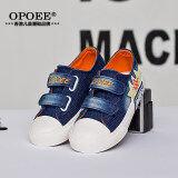 ซื้อ Opoee ยีนส์เด็กผู้ชายและเด็กผู้หญิงรองเท้าเด็กรองเท้าผ้าใบ ถูก