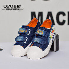 ซื้อ Opoee ยีนส์เด็กผู้ชายและเด็กผู้หญิงรองเท้าเด็กรองเท้าผ้าใบ ถูก ใน ฮ่องกง
