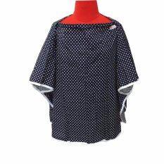 ราคา Palmandpond เสื้อคลุมให้นม เต็มตัว มีโครง ลายกรมจุดขาว ออนไลน์ นนทบุรี