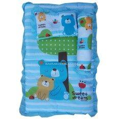 Papa ชุดที่นอนปิคนิคเล็ก ลายหมี (สีฟ้า).
