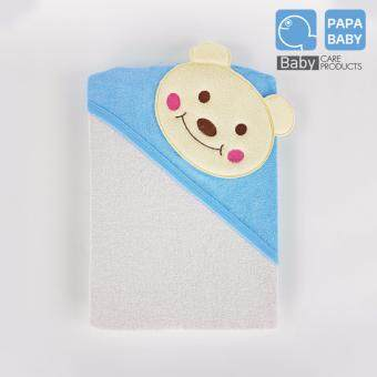 PAPA ผ้าห่อตัว Size 78x90 ซม. ลาย หมี สีขาว