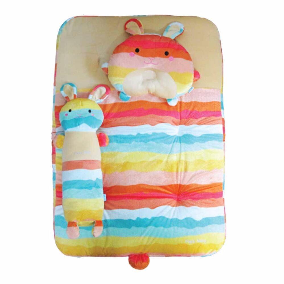 ซื้อที่ไหน PAPA BABY ชุดปิคนิคเวลบัวสีส้ม Rainbow ลายกระต่าย รุ่น CSN-H32