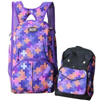 Peimm Modello กระเป๋าใส่ผ้าอ้อม กันน้ำ + เป้สะพายหลัง สไตส์เกาหลี มัลติฟังก์ชั่น (ลายกราฟฟิค)