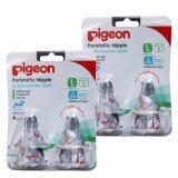 ส่วนลด Pigeon พีเจ้น จุกนมเสมือน นมมารดา รุ่นมินิ Size L จำนวน 4 อัน แพ็ค 2 แพ็ค