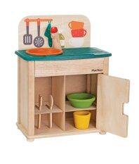 Plantoys Sink & Fridge ของเล่นไม้ชุดล้างจานมินิ ของเล่นเด็ก 3 ขวบ.