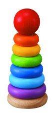 Plantoys Stacking Ring วงแหวนสวมหลัก หลากสีสัน Wooden Toy ของเล่นไม้ ของเล่น เสริมพัฒนาการ ทักษะ และ การเรียนรู้ ถูก