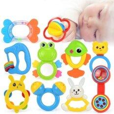 ของเล่นเด็กพลาสติกที่มีสีสันสั่นอุปกรณ์ของเล่นสำหรับเด็กหญิงและเด็กชายเพื่อให้ขวด..