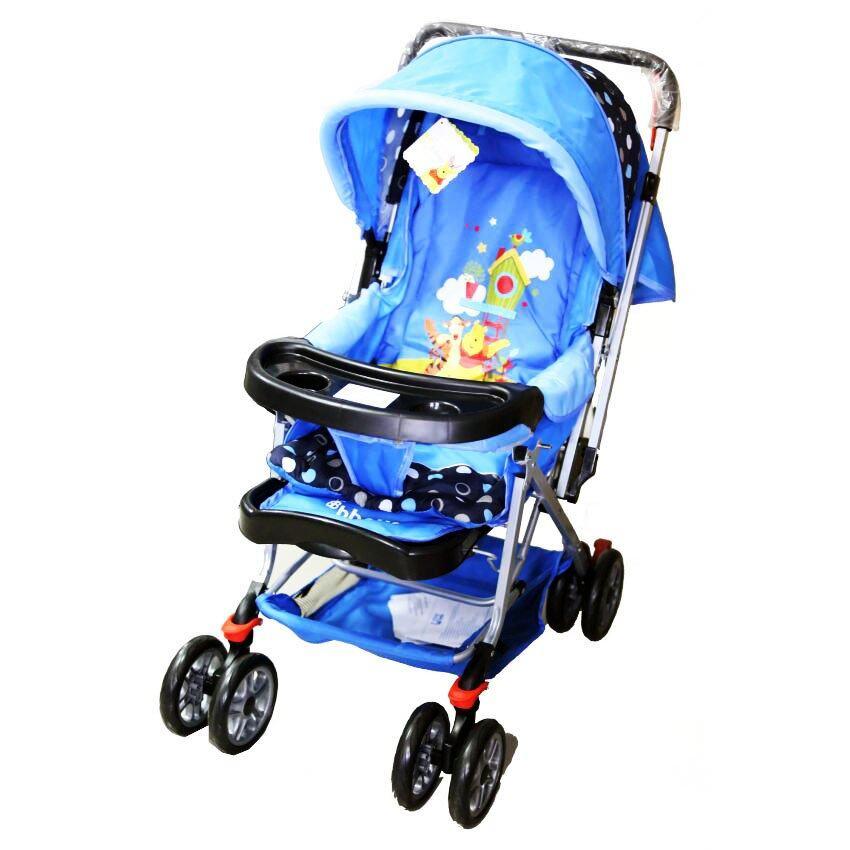 ดีจริง ถูกจริง OHAYOU รถเข็นเด็กแบบนอน OHAYOU รถเข็น รุ่น Maru Polka Dot - สีฟ้า ขายถูกที่สุดแล้ว