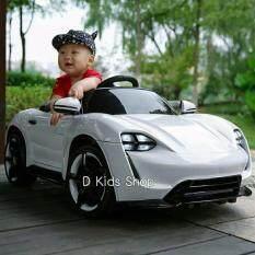 โปรโมชั่น รถเด็กทรง Porche Mission E สีขาว 12V 2 Motors คันใหญ่ รถแบตเตอรี่ รถเด็กนั่งไฟฟ้า กรุงเทพมหานคร