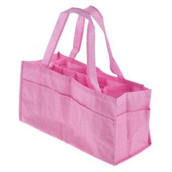 กระเป๋าเก็บอุปกรณ์สำหรับเปลี่ยนผ้าอ้อมเด็กทารกแบบพกพา (สีชมพู)