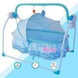 ราคา Primi เปลไกวอัตโนมัติ รุ่น ไกวข้าง Side Swing B สีฟ้า เป็นต้นฉบับ Primi