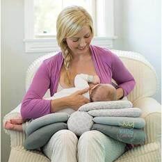 หมอนอเนกประสงค์หมอนรองให้นมเด็กแรกเกิดแบบปรับระดับได้.