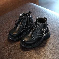 ราคา ฤดูใบไม้ร่วงและฤดูหนาวอังกฤษบวกกำมะหยี่เด็กรองเท้าบูทสาว ที่สุด