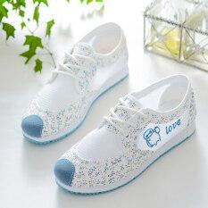 ราคา ผ้าใบรองเท้าเกาหลีรองเท้าแบนสูงด้านบนรองเท้าสาว Other ใหม่