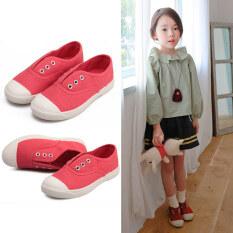 ราคา ขี้เกียจเกาหลีสำหรับเด็กหญิงและเด็กชายรองเท้าผ้าใบรองเท้า Unbranded Generic เป็นต้นฉบับ