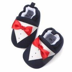 ราคา รองเท้าเด็ก รองเท้าเด็กแรกเกิด ลายทักซิโด้สีดำ ใหม่
