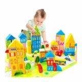 ซื้อ ของเล่นไม้ บล็อกไม้สร้างเมือง พร้อมผังเมือง กล่องสีเหลี่ยม กรุงเทพมหานคร