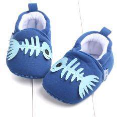 รองเท้าเด็ก รองเท้าเด็กแรกเกิด ลายก้างปลา เป็นต้นฉบับ