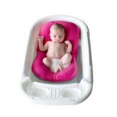 ซื้อ ที่อาบน้ำเด็ก อุปกรณ์อาบน้ำทารก ที่นอนสำหรับอาบน้ำเด็กอ่อน นุ่มสบาย ไม่ระคายผิวลูก สีชมพู ถูก กรุงเทพมหานคร