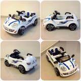 ขาย รถแบตเตอรี่ รถเด็กนั่ง มินิจัสติน สีขาว รถเด็กไฟฟ้า ขับเองได้ บังคับรีโมทได้ ถูก