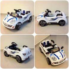 ซื้อ รถแบตเตอรี่ รถเด็กนั่ง มินิจัสติน สีขาว รถเด็กไฟฟ้า ขับเองได้ บังคับรีโมทได้ Lion เป็นต้นฉบับ