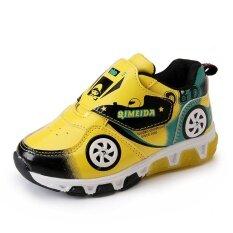 ฤดูใบไม้ร่วงใหม่เด็กการ์ตูนรองเท้าไฟกระพริบรองเท้าเด็ก ใหม่ล่าสุด