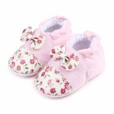 ขาย รองเท้าเด็ก รองเท้าเด็กแรกเกิด สีชมพูลายดอกไม้ Unbranded Generic ผู้ค้าส่ง