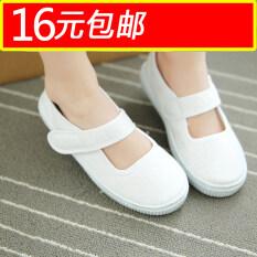 ราคา บริสุทธิ์สีขาวเต้นรำทำหน้าที่ออกนักเรียนรองเท้ารองเท้า ใหม่ ถูก