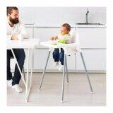 ขาย เก้าอี้ทานข้าวเด็กเล็กทรงสูงพร้อมเข็มขัดรัด สีขาว ไม่มีถาด Unbranded Generic ผู้ค้าส่ง