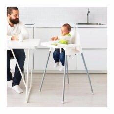 ขาย เก้าอี้ทานข้าวเด็กเล็กทรงสูงพร้อมเข็มขัดรัด สีขาว ไม่มีถาด ออนไลน์ ใน กรุงเทพมหานคร