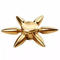 ราคา สปินเนอร์ทองเหลืองแท้หกแขนปลายแหลม ผิววาวเงางาม หมุนลื่นและเงียบมาก หมุนนาน ถูก