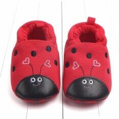 ราคา รองเท้าเด็ก รองเท้าเด็กแรกเกิด ลายเต่าทองสีแดง ใหม่