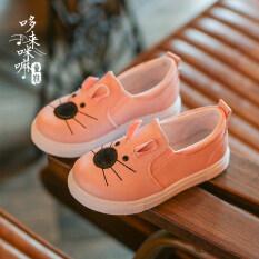 ซื้อ ทารกนักเรียนฤดูใบไม้ร่วงการ์ตูนแมวเหยียบรองเท้าลำลองรองเท้าเด็ก Other