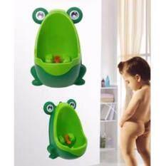 โถปัสสาวะสำหรับเด็กชาย : รูปกบสีเขียว By Cokeza.