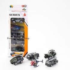 โปรโมชั่น Proudnada Toys ของเล่นเด็กชุดรถเหล็กตำรวจ 5 คัน Xing Lian Meng Model Car No 82051 Proudnada Toys