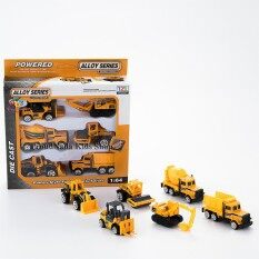 Proudnada Toys ของเล่นเด็กชุดโมเดลรถเหล็กก่อสร้าง 6 คัน Tongzaile Alloy Series Die Cast 1 64 No Tzl616 ใน Thailand