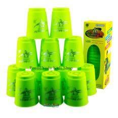 ซื้อ Proudnada Toys Stack Cup เกมส์เรียงแก้ว สีเขียว Speed Stacks No P12 ถูก Thailand